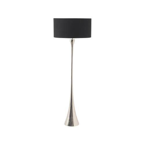 Black mirror floor lamp