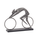Bronze Resin Abstract Cyclist Sculpture
