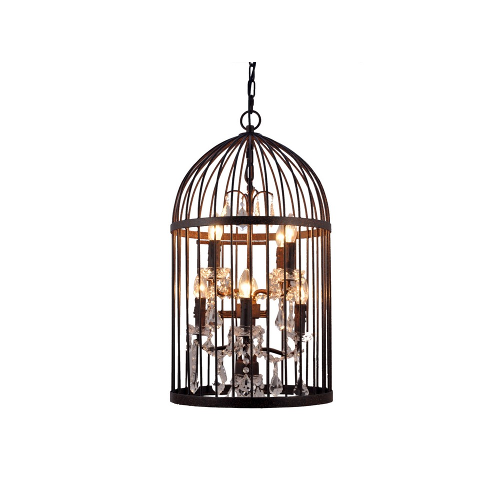 Birdcage Chandelier eight light grey