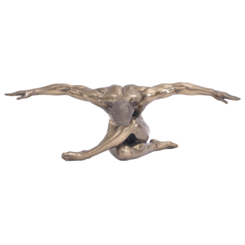 Bronze Male Nude Figurine