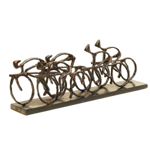 Peloton Cyclist Sculpture