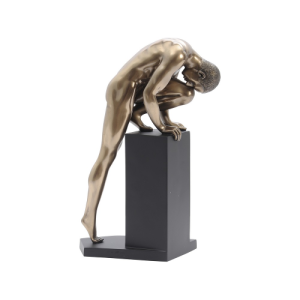 Bronze Sculpture of a Stretching Male Nude