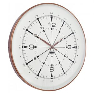 Brushed Copper Aviator Wall Clock large