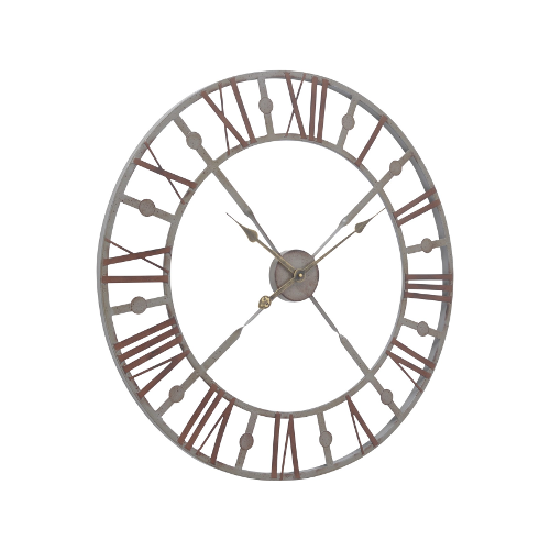 Antique Grey Skeleton Clock