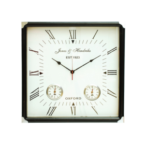 Brooklyn Square Wall Clock with Times for Hong Kong, London and New York