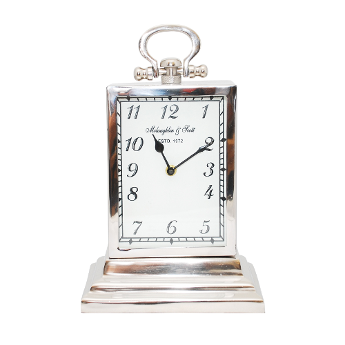 Chaucer Medium Aluminium Rectangular Clock