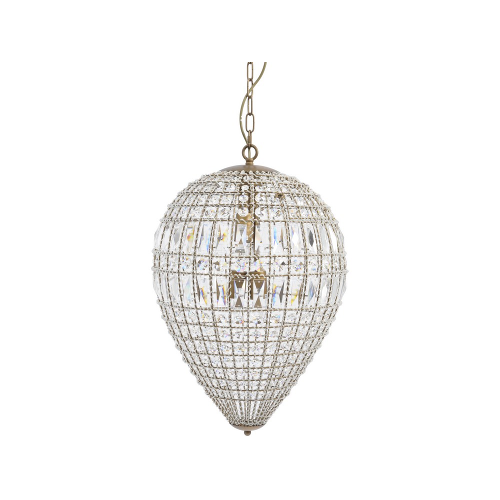 Pear Drop Shape Crystal Effect Chandelier with Brass Fixings Medium