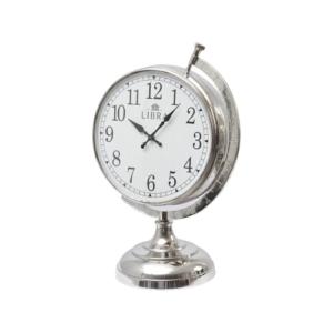 Globe Aluminium Table Clock