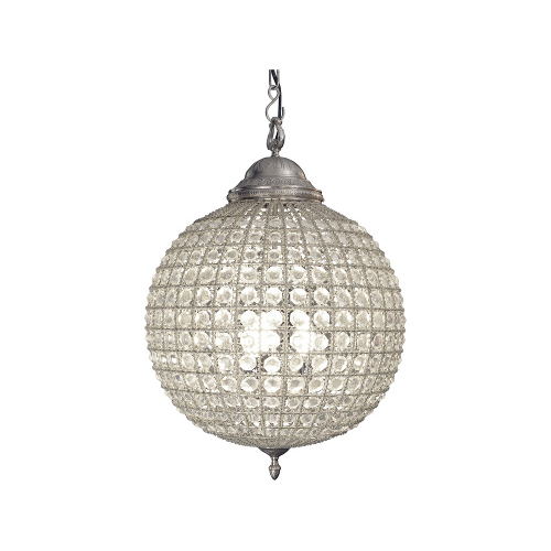 Henley Crystal Pewter Chandelier Medium