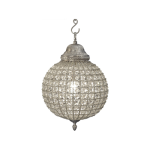 Henley Crystal Pewter Chandelier Small