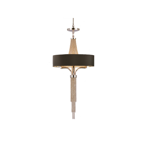 Lanesborough Chandelier with Black Shade Small