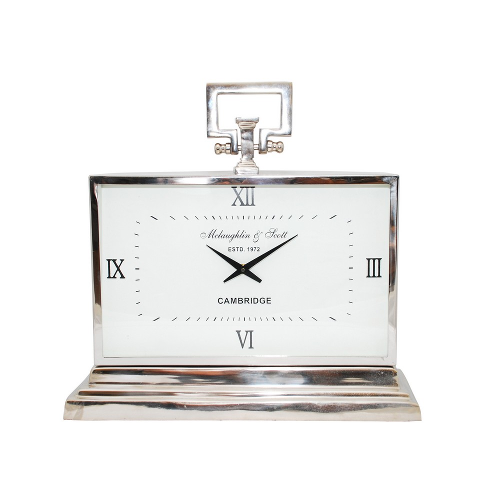 Latham Aluminium Rectangular Clock Medium