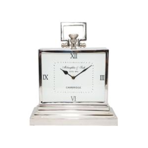 Latham Small Aluminium Rectangular clock with roman numerals