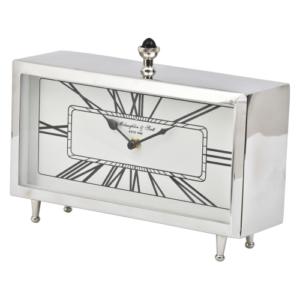 Nebolo Nickel Rectangular Table Clock