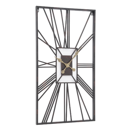 Rectangular Skeleton Wall Clock