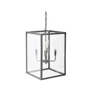 Rustic Glass Four Light Ceiling Lantern
