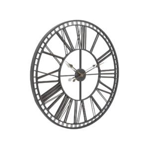 Skeleton Mirrored Wall Clock
