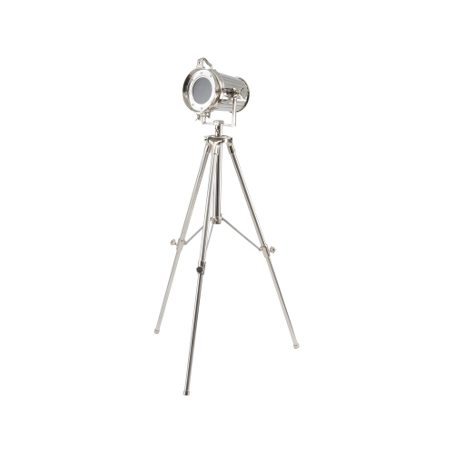 The Tripod Spotlight in Polished Silver Finish