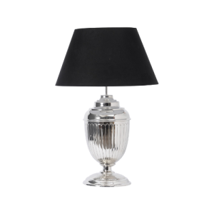 Theia Nickel Urn Table Lamp with Shade