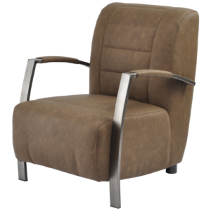 Alderman Faux Leather Light Brown Chair 700730