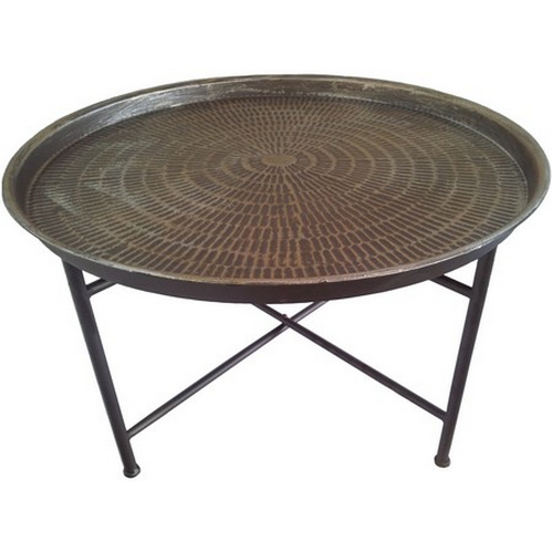 Jakata Hammered Metal Coffee Table 337552
