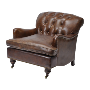 Battle Vintage Leather Armchair
