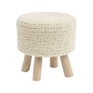 Tribal Natural Knitted Stool 337875