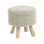 Tribal Stone Grey Knitted Stool 337876