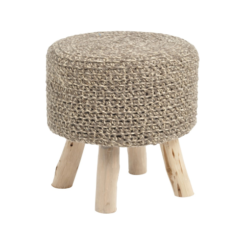 Tribal Taupe Knitted Stool 337877