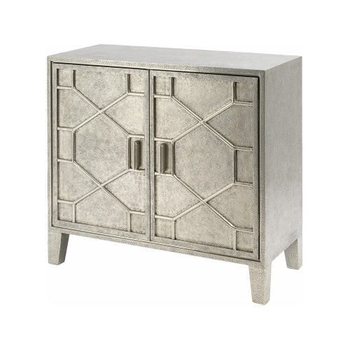 Astor Hand Embossed Metal Two Door Cabinet 337753
