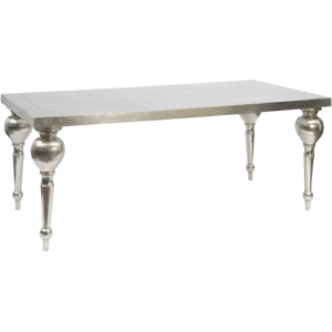 Astor Hand Embossed Rectangular Metal Dining Table 337760