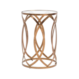 Copper Leaf Round Side Table 337789