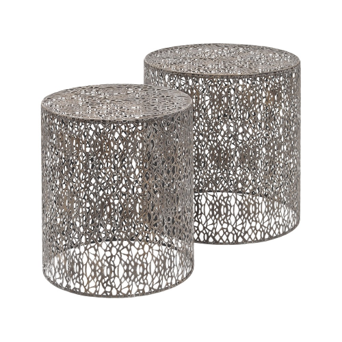 Grey Set Of Two Nesting Side Tables 231154