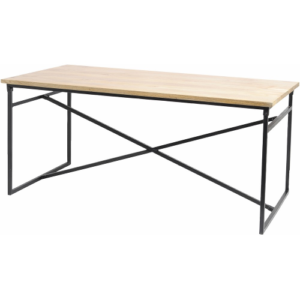 Manhattan Cross Frame Dining Table With Solid Mango Wooden Top 337745