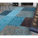 Patchwork Antique Turquoise Rug Layout 8105