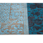 Patchwork Antique Turquoise Rug Pile 8105