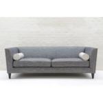 Tuxedo Kingsize Sofa in Hudson Nero No Cushions
