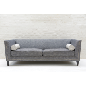 Tuxedo Kingsize Sofa in Hudson Nero No Cushions