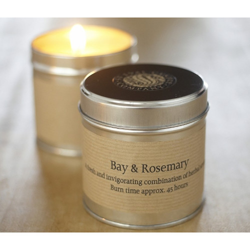Bay and Rosemary Scented Candle Tin