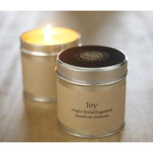 joy candle tin