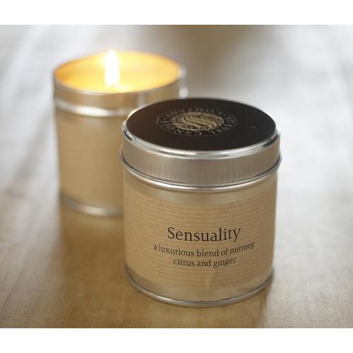 sensuality candle tin