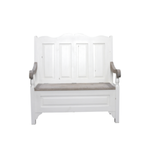 Hanley 2 seater Monks Bench antique white