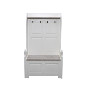 Hanley Monks Bench with coat hooks and storage small