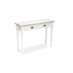 Hanley French Style Console table in antique white