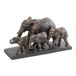 Family of Elephants sculpture