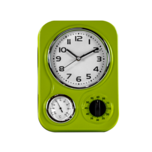 Funky Lime Green Kitchen Clock