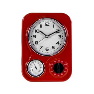 Funky Red Kitchen Clock