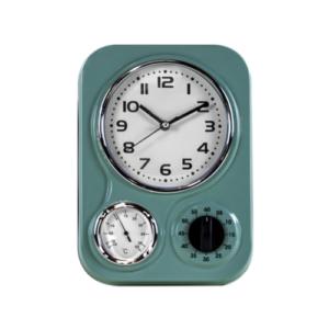 Funky Light Blue Kitchen Clock