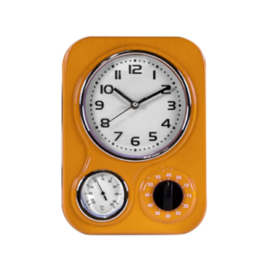 Funky Orange Kitchen Clock