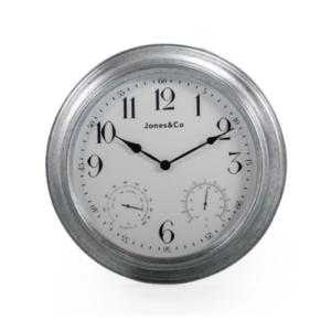 Galvanised clock medium